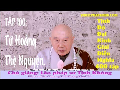 TẬP 100, Tứ Hoằng Thệ Nguyện, Tịnh Độ Đại Kinh Giải Diễn Nghĩa, lần thứ 11, 2010
