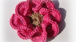 3D Crochet Flowers Multi Petals  - 1