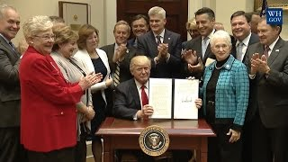 Trump Signs Executive Order On K-12 Education