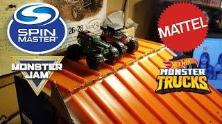 Mattel's Hot Wheels Monster Trucks vs Spin Master's Monster Jam