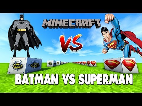 BATMAN VS SUPERMAN ŞANS BLOKLARI - Minecraft
