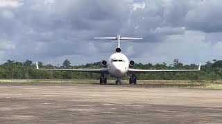 preview picture of video 'AEROSUCRE BOEING 727-200 PARKING AFTER LANDING SKPD'