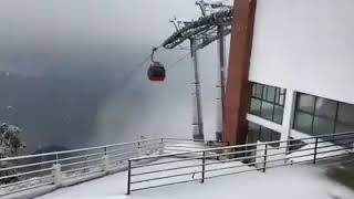 Snowy Chandragiri in pictures & video