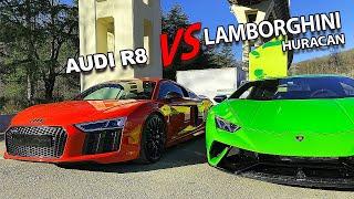 640 л/с Lamborghini Huracán VS 610 л/с Audi R8. Обзор от Кахи