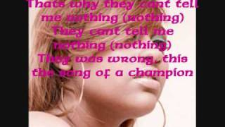Champion Ace Hood ft Jasmine Sullivan and Rick Ross w/ Lyrics