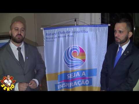 Wilhiam do Rio Abaixo e Bruno de Moura Pires Novo Presidente do Rotary de Juquitiba