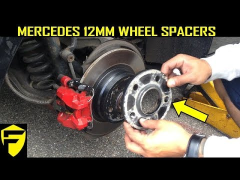 WIDEN UP WHEELS WITH SPACERS MERCEDES C250