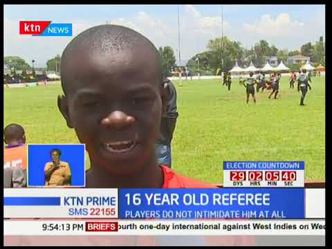 16 year-old Lawrence Ishuga debuts as an official at Nakuru's Prinsloo 7's tourney