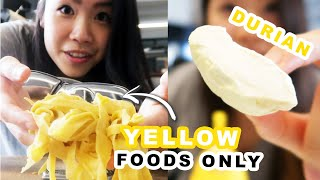 You guys voted for this color, so here it is! I challenged myself to ONLY eat naturally-colored yellow foods for 24 hours and I loved it! Follow Inga on Instagram for more: https://www.instagram.com/ingatylam/  Credits: https://www.buzzfeed.com/bfmp/videos/87125  Check out more awesome videos at BuzzFeedVideo! https://bit.ly/YTbuzzfeedvideo  GET MORE BUZZFEED: https://www.buzzfeed.com https://www.buzzfeed.com/videos https://www.youtube.com/buzzfeedvideo https://www.youtube.com/asis https://www.youtube.com/buzzfeedmultiplayer https://www.youtube.com/buzzfeedviolet https://www.youtube.com/perolike https://www.youtube.com/ladylike  SUBSCRIBE TO BUZZFEED NEWSLETTERS: https://www.buzzfeed.com/newsletters  BuzzFeedVideo BuzzFeed's flagship channel. Sometimes funny, sometimes serious, always shareable. New videos posted daily! To see behind-the-scenes & more, follow us on Instagram @buzzfeedvideo http://bit.ly/2JRRkKU  Love BuzzFeed? Get the merch! BUY NOW: https://goo.gl/gQKF8m MUSIC  Licensed via Audio Network SFX Provided By AudioBlocks (https://www.audioblocks.com) Carmine_FullMix Licensed via Warner Chappell Production Music Inc. Mango_FullMix Licensed via Warner Chappell Production Music Inc. Hopscotch_FullMix Licensed via Warner Chappell Production Music Inc. Gleeful Samba_FullMix Licensed via Warner Chappell Production Music Inc.