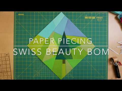 Paper Piecing / Nähen auf Papier - Anleitung - Swiss Beauty BOM