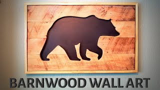 BARNWOOD WALL ART | DIY RUSTIC DECOR | 100% RECLAIMED MATERIALS