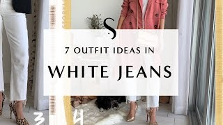 7 Ways To Wear White Jeans I Sydne Summer