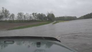 Driving Through Flash Flood! Almost Lost It!