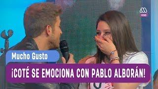 ¡María José Quintanilla se emociona con Pablo Alborán! - Mucho Gusto 2017