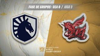 Mundial 2019: Fase de Grupos - Dia 8 | Team Liquid x ahq eSports Club (Jogo 3)