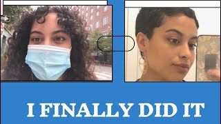 I FINALLY DID IT | Big Chop Pixie Cut On Curly Hair