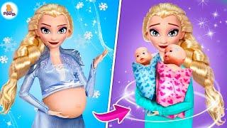25 DIY Лайфхаков для Беременной Куклы Эльза! #Pregnant Disney Princess Elsa Hacks an Crafts