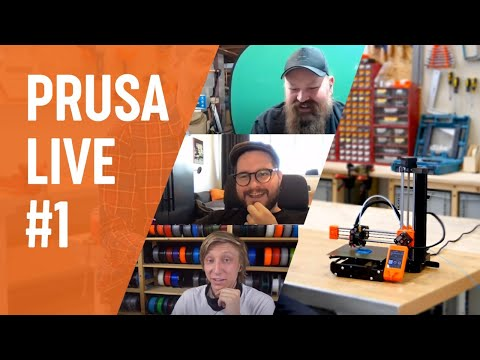 PRUSA LIVE #1 - Print on demand, Prusament PC Blend, FW 3.9.0 and more!