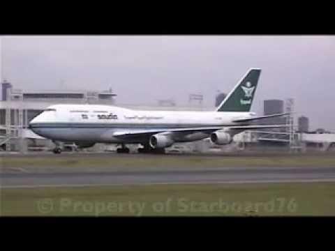 طائرة سعودية بشعارها القديم .. رائع