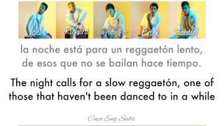 CNCO  Reggaetón Lento (EnglishSpanish Lyics)