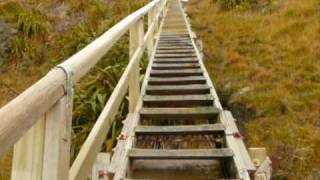 preview picture of video 'Longest staircase ever - to Cape Palliser Lighthouse'