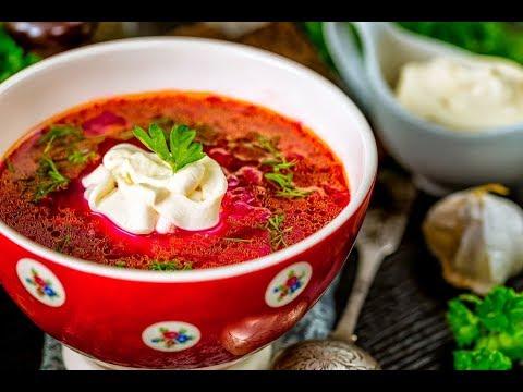 Борщ!!! Очень вкусно. Бабушкины рецепты. Попробуйте! Как приготовить украинский борщ? Рассказывает Олега...