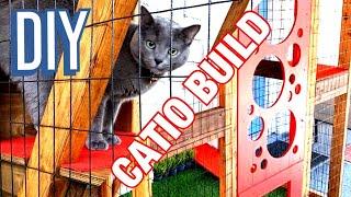 CATIO Build 2020! DIY Modern Outdoor Cat Enclosure For Patio - A Cat Patio!