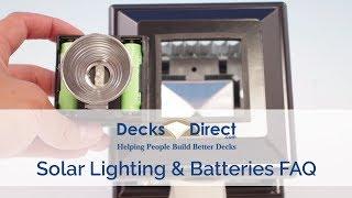 Solar Lighting and Batteries FAQ
