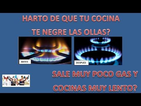 reparar fogones de cocina a gas, reparar cocina de gas butano, limpiar chicles cocina a gas