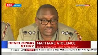 Police Commander-Japheth Koome confirms a stubbing in Mukuru kwa Reuben