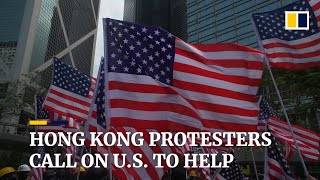 Thousands of protesters march to US consulate in Hong Kong