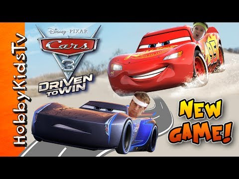 NEW Disney/Pixar Cars 3: Driven to Win Video Game! Fun Family Competition w/HobbyPig on HobbyKidsTV