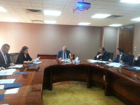 اجتماع الوزير/طارق قابيل مع بعثة البنك الدولى المعنية بتنفيذ برنامج التنمية المحلية بالصعيد