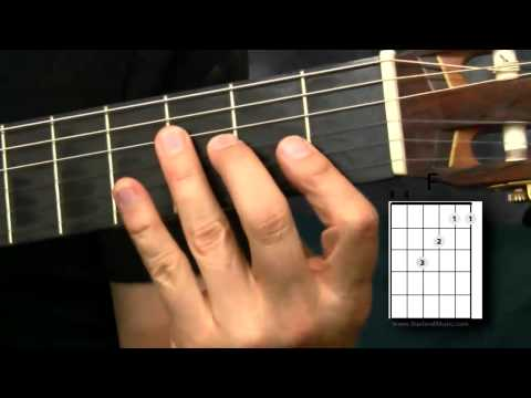 Easier Way To Play The F Chord - Beginning Guitar