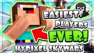 THE EASIEST PLAYERS EVER?! ( Hypixel Skywars )