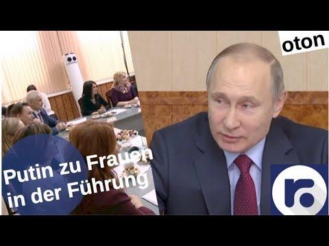 Putin zu Frauen in Führungspositionen auf deutsch [Video]