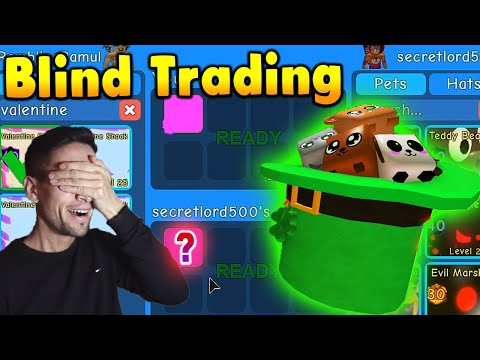 🙈Blind trading my Secret & Lucky Tophat pets in Roblox Bubble Gum Simulator