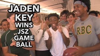 Jaden Key | RBC WR-DB | JSZ Game Ball Presentation