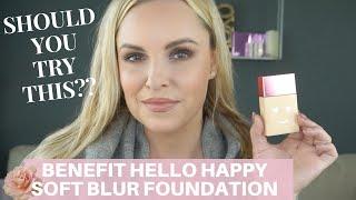 BENEFIT HELLO HAPPY SOFT BLUR FOUNDATION Review & Wear Test