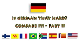 German compared to other languages - Part II