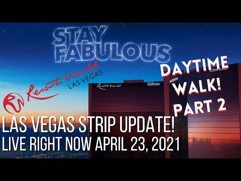 🏨RESORTS WORLD🏨 Update | Las Vegas Daytime WALK | FRIDAY APRIL 23,2021