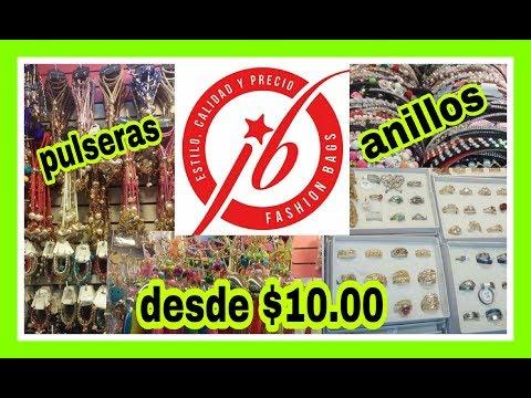 COMPRAS DE BISUTERIA DE $10.00 EN EL CENTRO//DONDE COMPRAR//JB FASHION BAGS