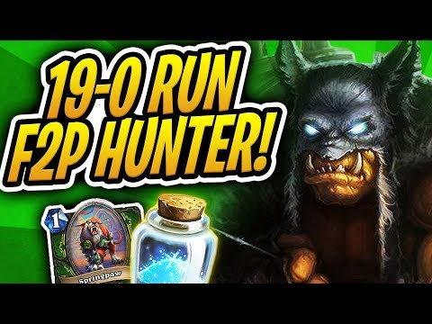 100% (19-0) WINSTREAK! | F2P/Budget Hunter 1160 Dust Ladder Climb | Rise of Shadows | Hearthstone