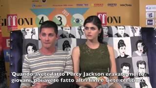 Logan Lerman E Alexandra Daddario Al Giffoni 2013