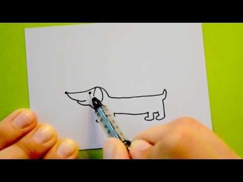 Wie male ich einen Dackel