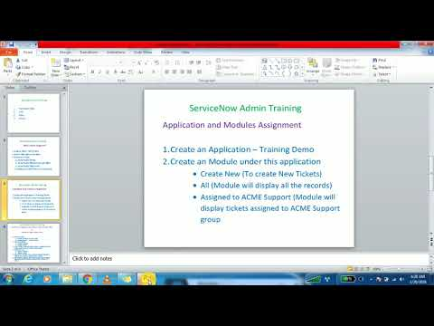 8. ServiceNow Applications and Modules