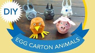 DIY: Animals From Egg Cartons