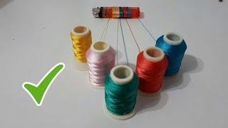 Çakmak Kullanarak  FARKLI Yazma Modeli Yaptım Needle And Thread
