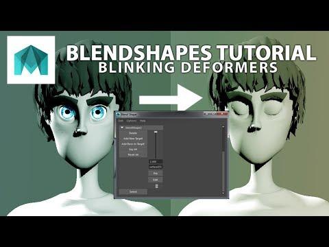 Autodesk Maya 101 blend shapes and the shape editor - смотреть