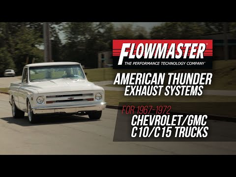 Flowmaster American Thunder Exhaust Installation for 67-72 C10 Trucks